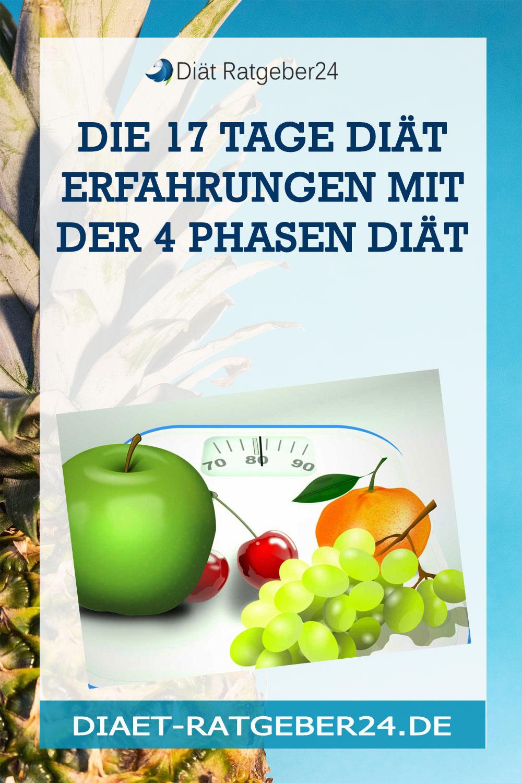 Die 17 Tage Diät Erfahrungen mit der 4 Phasen Diät