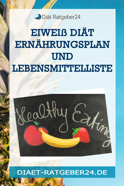 Eiweiß Diät Ernährungsplan und Lebensmittelliste