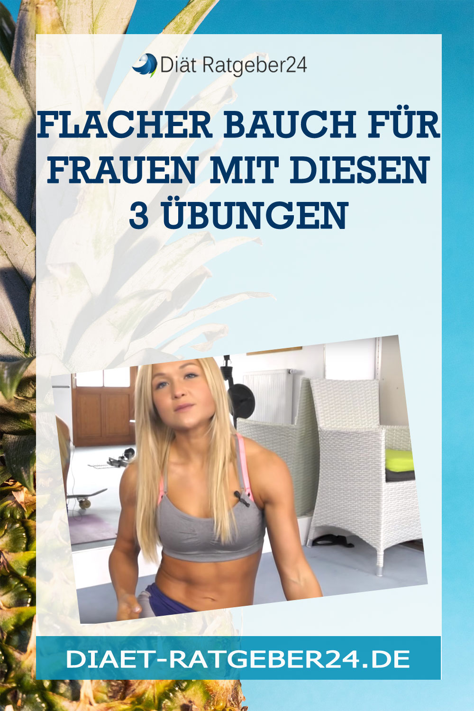 Flacher Bauch für Frauen mit diesen 3 Übungen