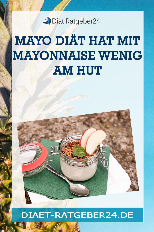 Mayo Diät Hat mit Mayonnaise wenig am Hut