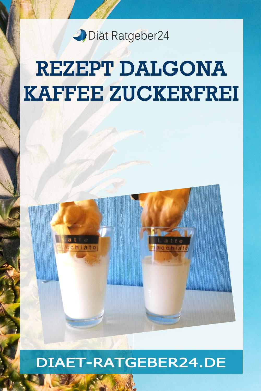 Rezept Dalgona Kaffee zuckerfrei