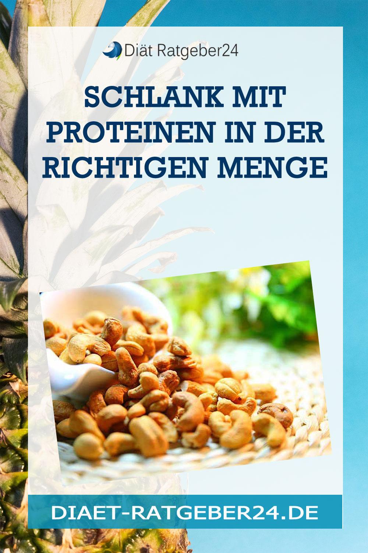 Schlank mit Proteinen in der richtigen Menge
