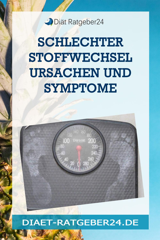 Schlechter Stoffwechsel Ursachen und Symptome