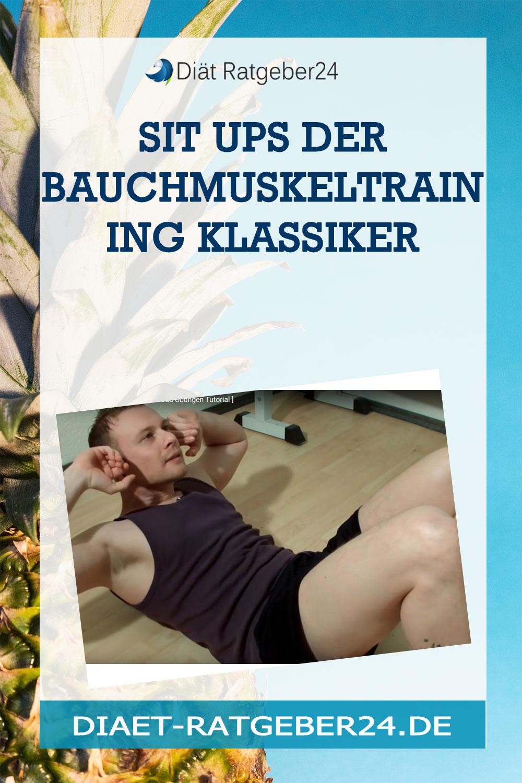 Sit ups der Bauchmuskeltraining Klassiker