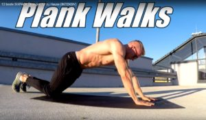 Sixpack Übung Plank Walks
