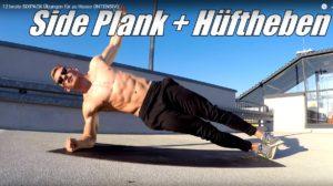 Sixpack Übung Side Plank Hüftheben