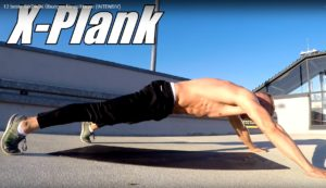 Sixpack Übung X Plank