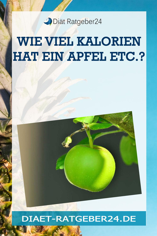 Wie viel Kalorien hat ein Apfel etc.?