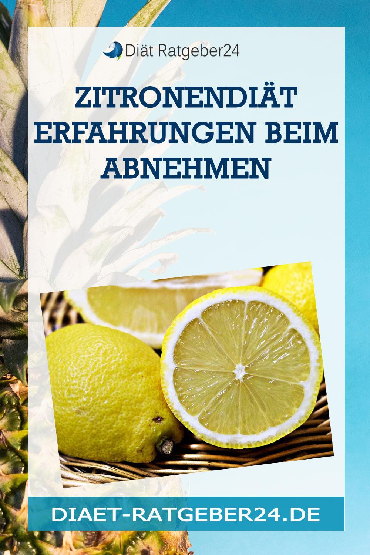 Zitronendiät Erfahrungen beim abnehmen