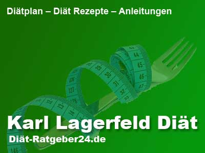 Karl Lagerfeld Diät