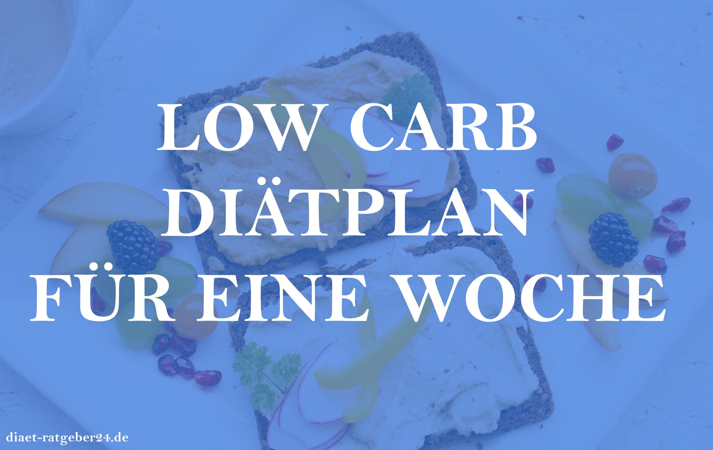 Low Carb Diatplan Fur Eine Woche Diat Ratgeber24