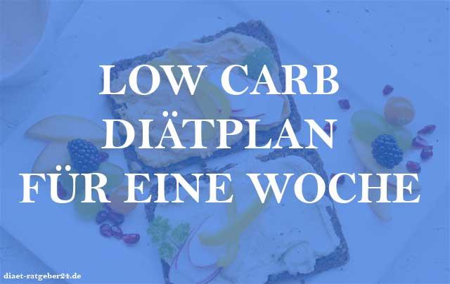 Low Carb Diätplan für eine Woche Ratgeber
