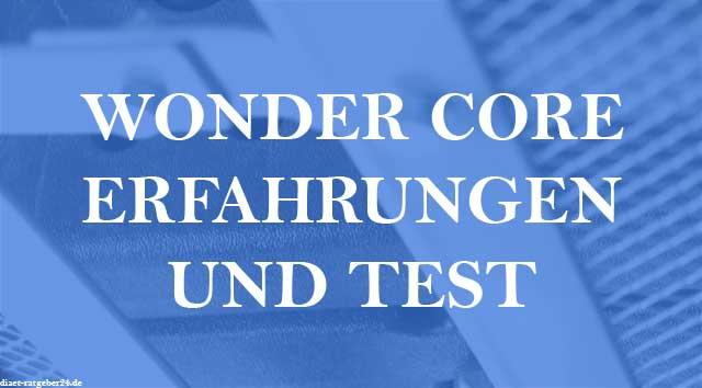 Wonder Core Erfahrungen und Test im Ratgeber